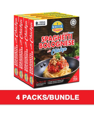 (4-Pack Bundle) 3-Minute Spaghetti Bolognese with Chicken Economy Pack (280g x 4)