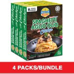 (4-Pack Bundle) 3-Minute Spaghetti Aglio Olio with Chicken Economy Pack (280g x 4)