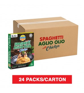 (1 Carton) 3-Minute Spaghetti Aglio Olio With Chicken (280g x 24)