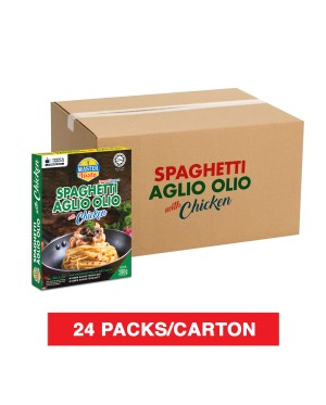 (1 Carton) 3-Minute Spaghetti Aglio Olio With Chicken Economy Pack (280g x 24)