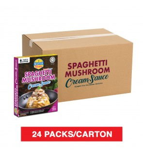 (1 Carton) 3-Minute Spaghetti Mushroom Cream Sauce Economy Pack (280g x 24)