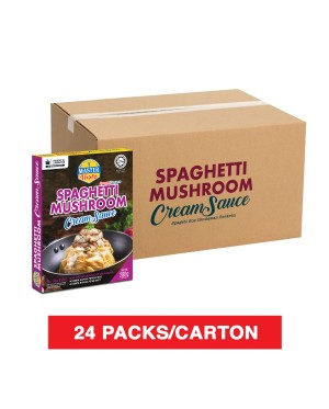 (1 Carton) 3-Minute Spaghetti Mushroom Cream Sauce Economy Pack (270g x 24)