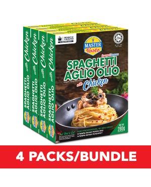 (4-Pack Bundle) 3-Minute Spaghetti Aglio Olio with Chicken (250g x 4)