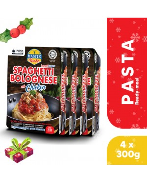 (4-Pack Bundle) 3-Minute Spaghetti Bolognese with Chicken Convenience Pack (300g x 4)