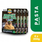 (4-Pack Bundle) 3-Minute Spaghetti Aglio Olio with Chicken Convenience Pack (250g x 4)