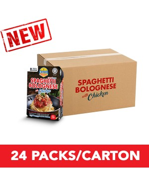 (1 Carton) 3-Minute Spaghetti Bolognese With Chicken Convenience Pack (290g x 24)