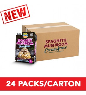 (1 Carton) 3-Minute Spaghetti Mushroom Cream Sauce Convenience Pack (290g x 24)