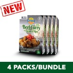 (4-Pack Bundle) 3-Minute Beef Curry with Steamed Rice (210g x 4)