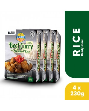 (4-Pack Bundle) 3-Minute Beef Curry with Steamed Rice (230g x 4)