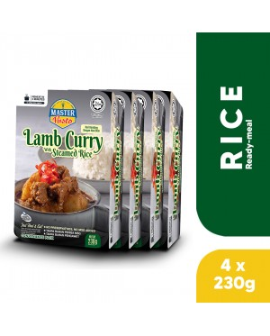 (4-Pack Bundle) 3-Minute Lamb Curry with Steamed Rice (230g x 4)