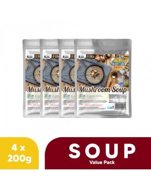 (4-Pack Bundle) Mushroom Soup Value Pack