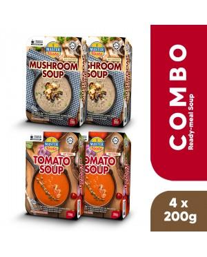 (Combo Soup Pack) Tomato Soup & Mushroom Soup (200g x 4)