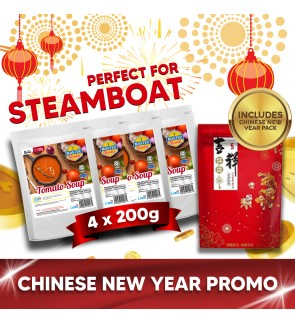 Tomato Soup Value Pack Steamboat (200g x 4) with CNY Packaging