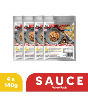 Tomato Coulis Sauce Value Pack (140g x 4)