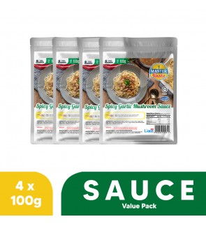 Spicy Garlic Mushroom Sauce Value Pack (100g x 4)