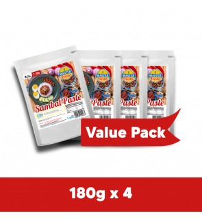 Sambal Paste Sauce Value Pack (180g x 4)