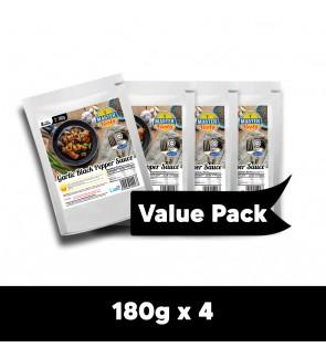 Garlic Black Pepper Sauce Value Pack (180g x 4)