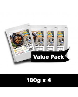 Garlic Black Pepper Sauce Value Pack (180g x 4)