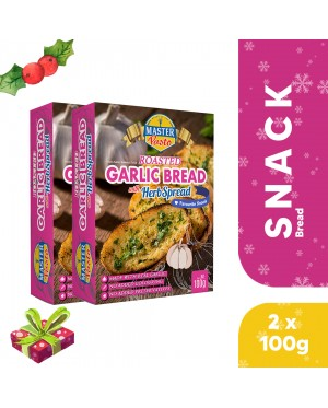 (2-pack Bundle) Roasted Garlic Bread with Herb Spread