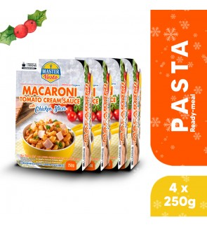 (4-Pack Bundle) Macaroni Tomato Cream Sauce with Chicken Slices (250g x 4)