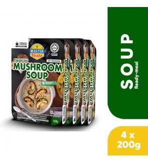 (4-Pack Bundle) 3-Minute Vegetarian Mushroom Soup (200g x 4)
